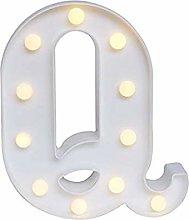 LED Alphabet Letter Lights, Decorative Warm