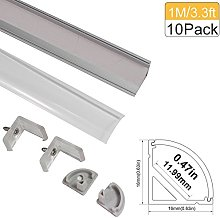 LED Aluminum Channel with Clear Cover,