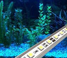 LED AQUARIUM LIGHTS IN BLUE / ALUMINIUM RIGID BAR