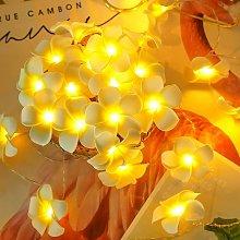 LED Artificial Plumeria Flower String Lights-