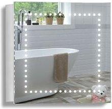 LED Bathroom Mirror Cabinet 50cm(H) x 50cm(W) x