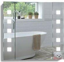 LED Bathroom Mirror Cabinet 60cm(H) x 65cm(W) x