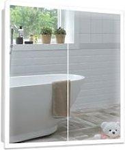 LED Bathroom Mirror Cabinet 70cm(H) x 65cm(W) x
