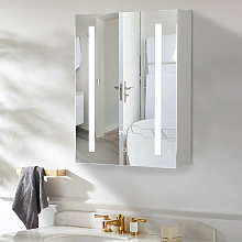 LED Bathroom Mirror Cabinet Illuminated 500x700mm