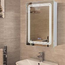 LED Bathroom Mirror Cabinet Wall Illuminated Light