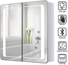 LED Bathroom Mirror Cabinet with Lights Shaver