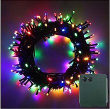 LED Battery Power Operated Dark Green Cable String