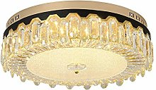 LED Bedroom Ceiling Light,Round K9 Crystal Ceiling