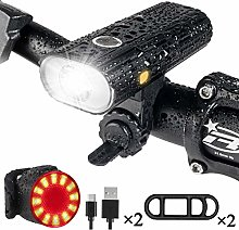 LED Bike Lights Set, USB Rechargeable Bicycle
