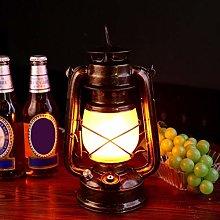 LED Camping Lantern, Vintage Storm Light Copper