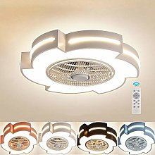 LED Ceiling Fan Light, 55cm 46W Modern Creative
