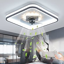 LED Ceiling Fan with Lamp Modern Dimmable with