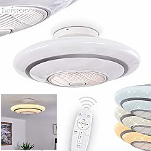 LED Ceiling Fan with Light Sitges in Glittering
