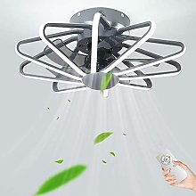 LED Ceiling Fans with Lighting Modern Invisible
