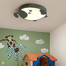LED Ceiling Lamp, Green Dimmable with Remote