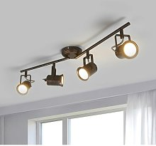 LED Ceiling Light 'Cansu') in Brown made