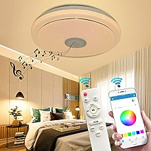 LED Ceiling Light Dimmable with Bluetooth Speaker,