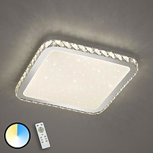 LED ceiling light Sapporo with a starlight cover