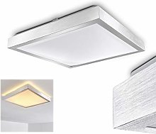 LED Ceiling Light Sora in Metal with Silver