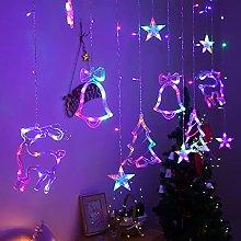 LED Christmas Curtain String Lights Christmas
