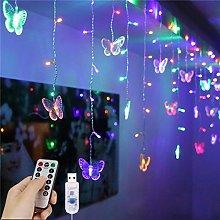 LED Curtain Lights, 1.5m x 0.5m USB 48LED