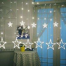 LED Curtain Lights,12 Stars 138 LED Curtain String