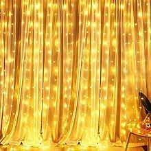 LED Curtain Lights, BrizLabs 300 LED 3m x 3m Warm