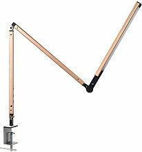 LED Desk Lamp, Dimmable Metal Long Arm Clip