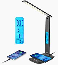 LED Desk Lamp with 10W Wireless Charging and USB