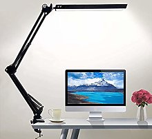 LED Desk Lamp with Clamp, Eye-Caring Dimmable Desk