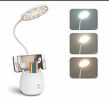 LED Desk Lamp, With Pen Holder Phone Holder,