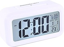 LED Digital Alarm Clock with Light-Activated