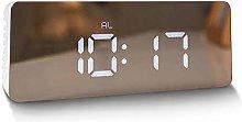 LED Digital Mirror Clock Time Temperature Large