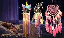 LED Dreamcatchers: Heart/Two