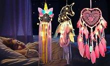 LED Dreamcatchers: Unicorn/Three