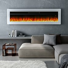 LED Electric Wall Fireplace 9 Flame Colours with