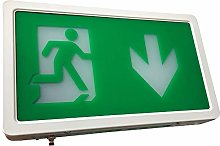 LED Exit Box Self Testing Emergency Lighting IP20