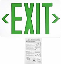 LED Exit Sign, Emergency Exit Light with Battery