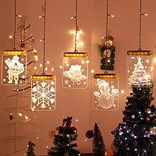 LED Fairy Light Curtain 1.6m x 1.15m 3D Curtain