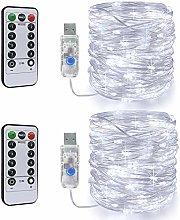 Led Fairy String Lights,2 Set 46Ft 120LEDs String