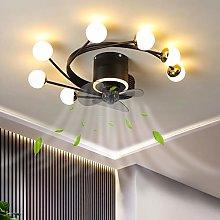LED Fan Ceiling Light Dimmable Living Room Ceiling