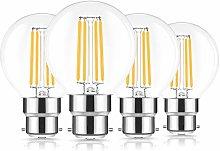 LED Filament Bulb, B22 Bayonet Cap G25 Vintage