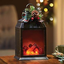 LED Fireplace Lantern by Coopers of Stortford