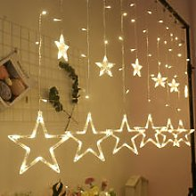 LED five-pointed star curtain lights