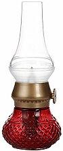 LED Flameless Candle Lantern, Vintage Oil Table