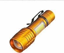 LED Flashlight Set - Flash Lamp with Shiny Handle