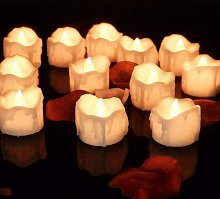 LED Flickering Flame Light Candles, Home Pack of