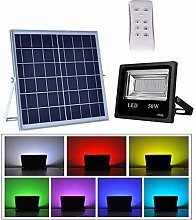LED Flood Light Outdoor, Color Changing RGB Solar