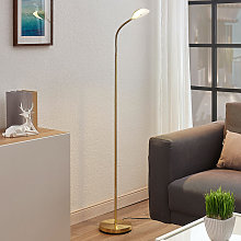 LED Floor Lamp 'Ajenne' in Gold made of
