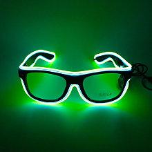 LED Glasses 20 Colors Optional Light Up El Wire